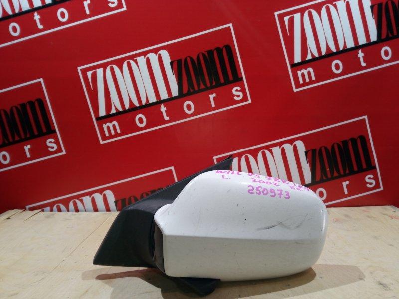 Зеркало боковое Toyota Will Vs ZZE127 1ZZ-FE 2001 переднее левое белый