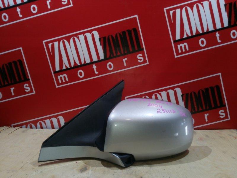 Зеркало боковое Suzuki Swift ZC11S M15A 2004 переднее левое серебро