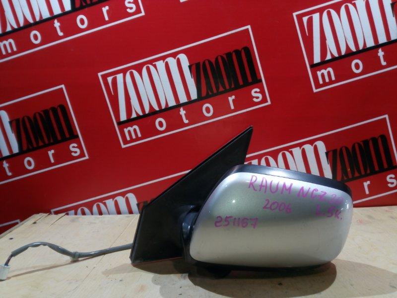 Зеркало боковое Toyota Raum NCZ20 1NZ-FE 2003 переднее левое серебро