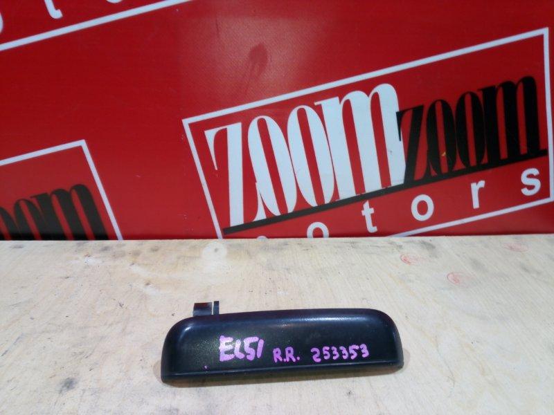 Ручка наружная Toyota Tercel EL51 4E-FE 1994 задняя правая