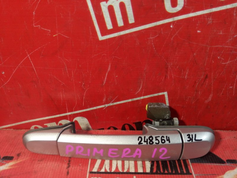 Ручка наружная Nissan Primera WTP12 QR20DE 2001 задняя левая серебро