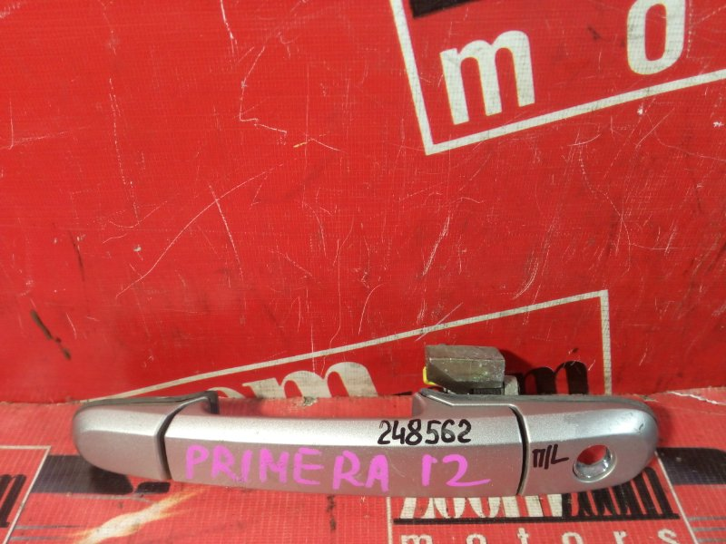 Ручка наружная Nissan Primera WTP12 QR20DE 2001 передняя левая серебро
