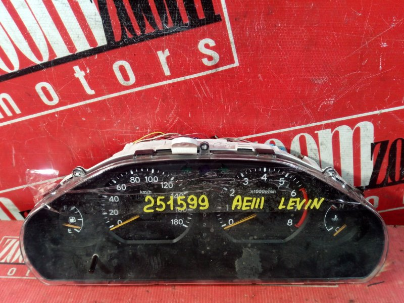 Комбинация приборов (спидометр) Toyota Corolla Levin AE111 4A-FE 1997 83800-1A400, 82266-000