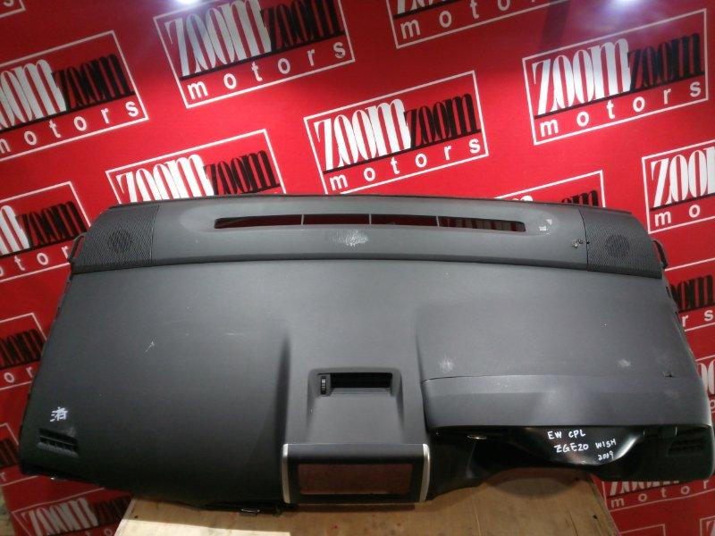 Панель передняя в салон (торпеда) Toyota Wish ZGE20 2ZR-FAE 2009 серый