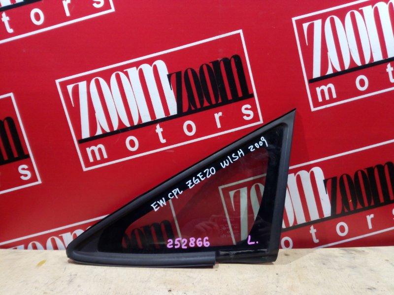 Стекло боковое Toyota Wish ZGE20 2ZR-FAE 2009 переднее левое