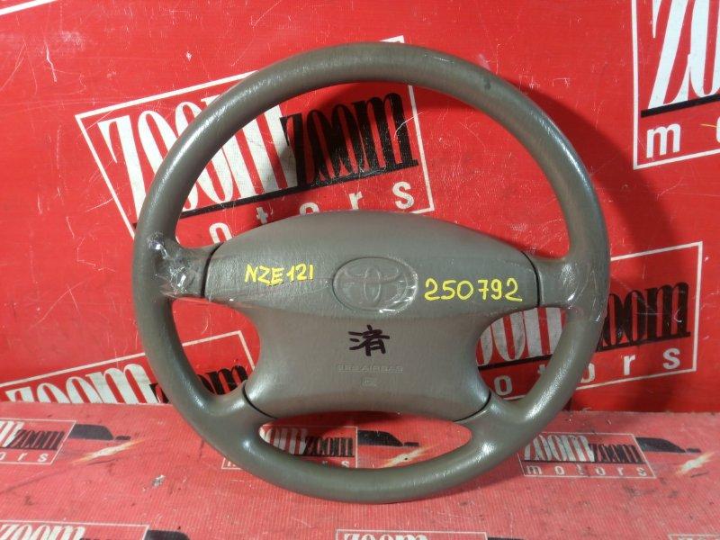 Руль Toyota Corolla NZE120 1NZ-FE 2001 бежевый