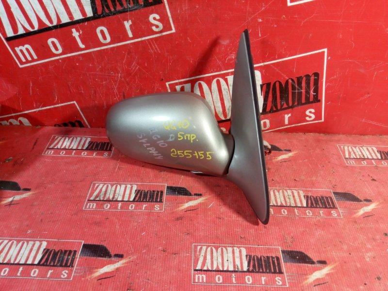 Зеркало боковое Nissan Bluebird Sylphy TG10 QG18DE 2000 переднее правое золото