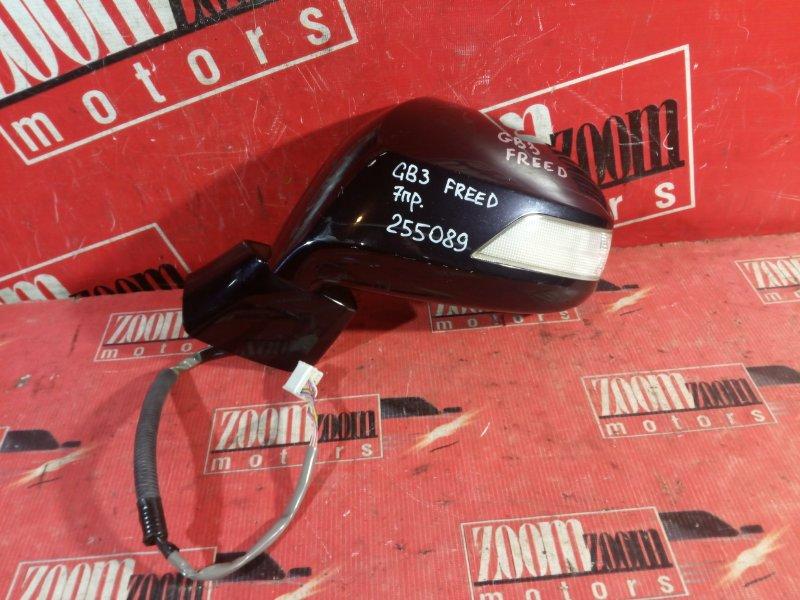 Зеркало боковое Honda Freed GB3 L15A 2008 переднее правое черный