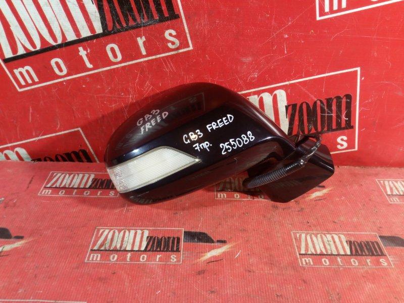 Зеркало боковое Honda Freed GB3 L15A 2008 переднее левое черный
