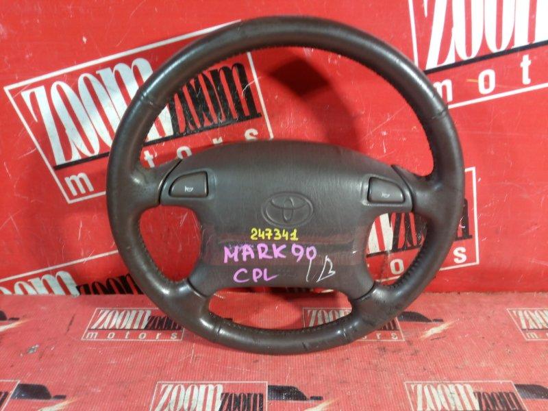 Руль Toyota Mark Ii GX90 1G-FE 1992 передний коричневый