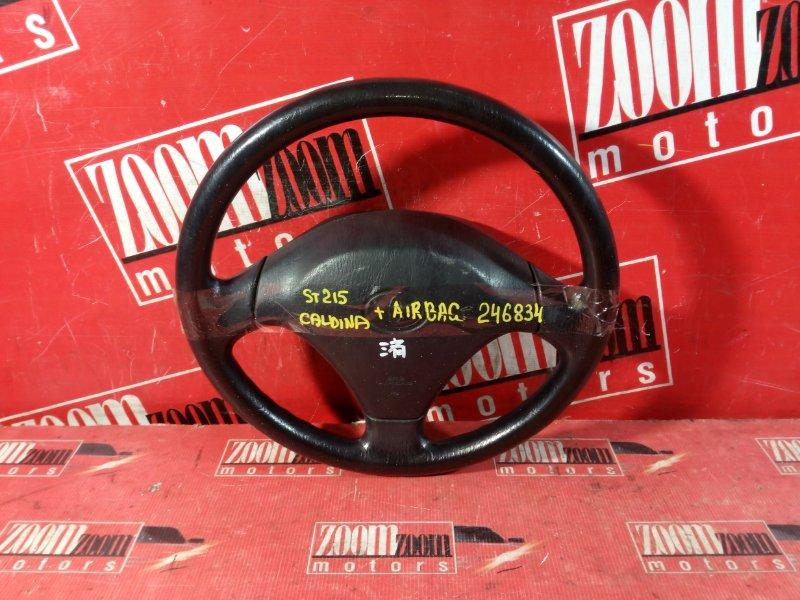 Руль Toyota Caldina ST210 3S-FE 1996 передний черный