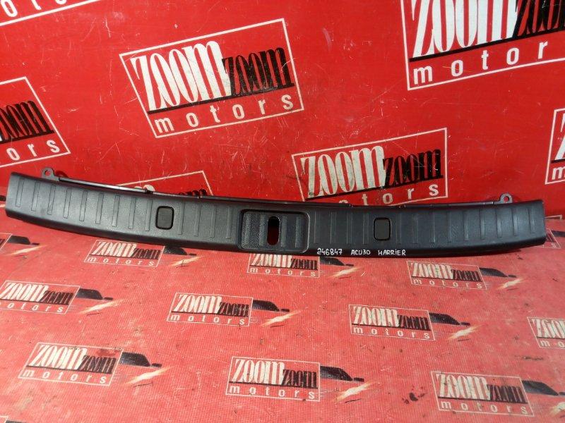 Накладка багажника Toyota Harrier ACU30 2AZ-FE 2006 задняя черный