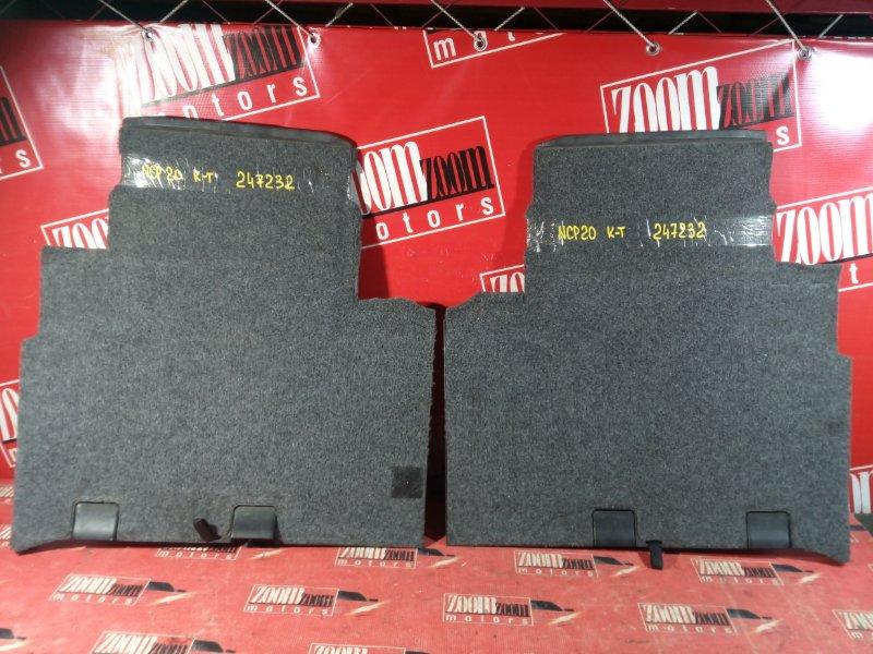 Обшивка (ковер) пола Toyota Funcargo NCP20 1NZ-FE 1999 задняя