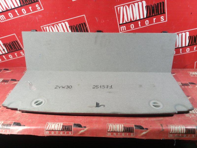 Пол багажника Toyota Prius ZVW30 2ZR-FXE 2009 задний