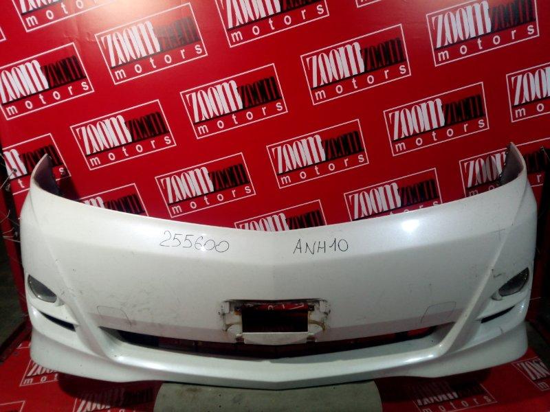 Бампер Toyota Alphard ANH10 1AZ-FSE 2005 передний белый перламутр