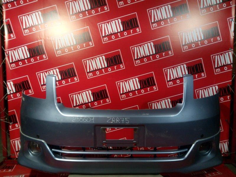Бампер Toyota Noah ZRR75W 3ZR-FAE 2007 передний голубой
