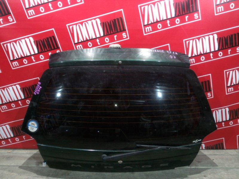 Дверь задняя багажника Mitsubishi Mirage CJ1A 4G15 1997 задняя зеленый