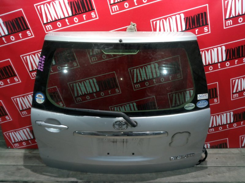 Дверь задняя багажника Toyota Raum NCZ20 1NZ-FE 2003 задняя серебро
