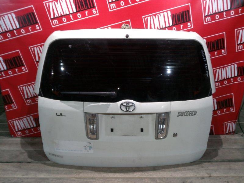 Дверь задняя багажника Toyota Succeed NCP50 1NZ-FE 2002 задняя белый