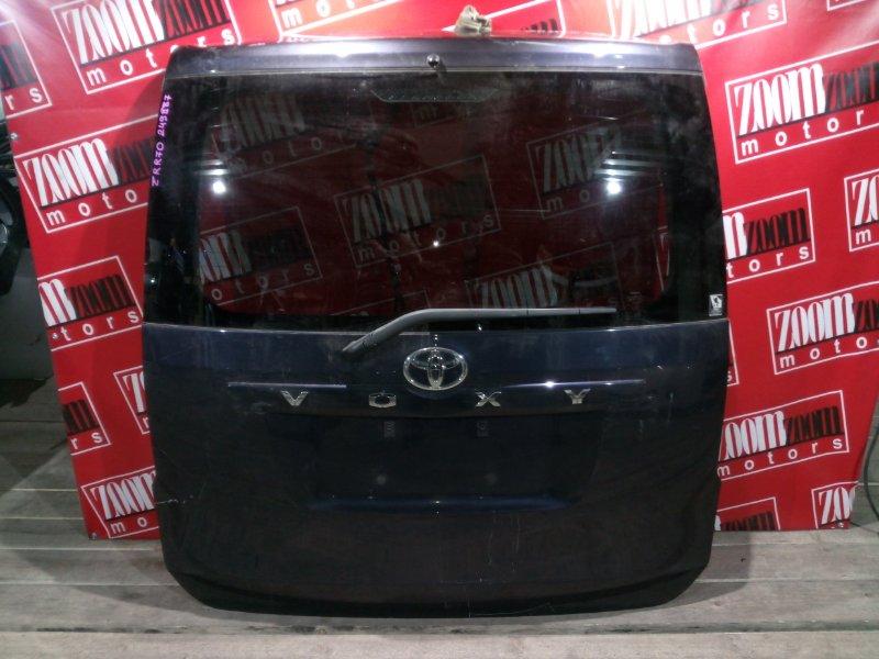Дверь задняя багажника Toyota Voxy ZRR70 3ZR-FE 2007 задняя фиолетовый