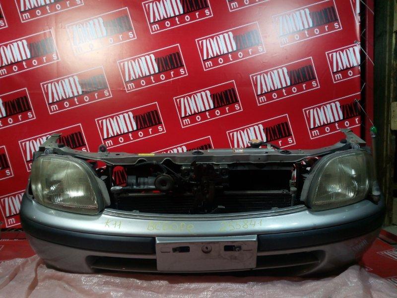 Nose cut Nissan March K11 CG10DE 1997 передний серебро