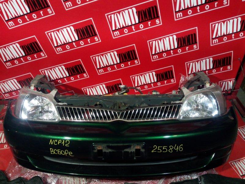 Nose cut Toyota Platz NCP12 2NZ-FE 1999 передний зеленый