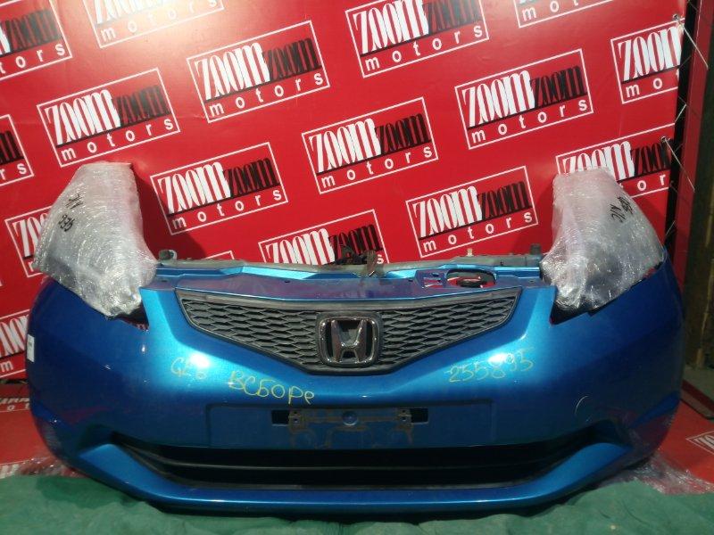 Nose cut Honda Fit GE6 L13A 2007 передний салатовый