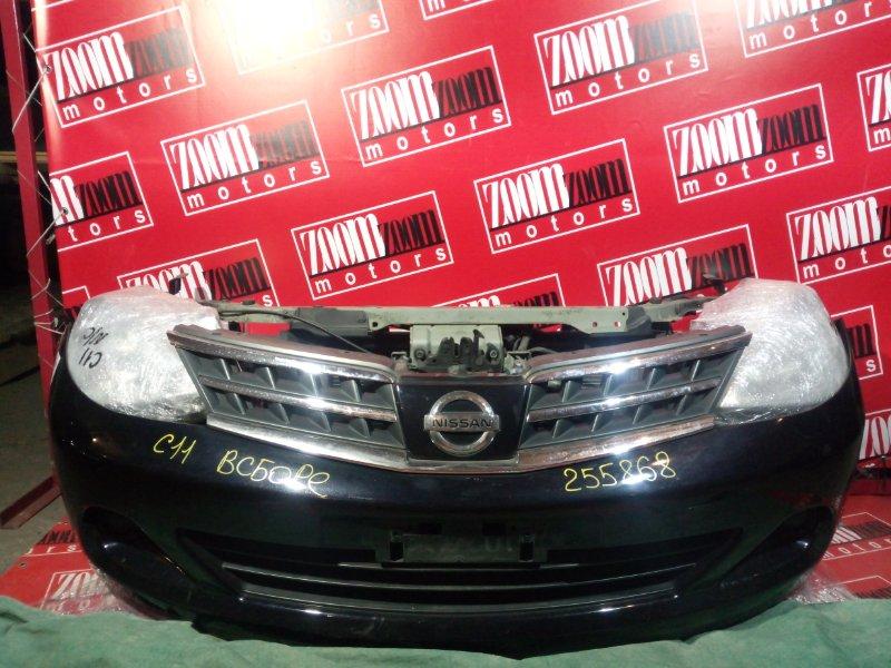Nose cut Nissan Tiida C11 HR15DE 2008 передний черный