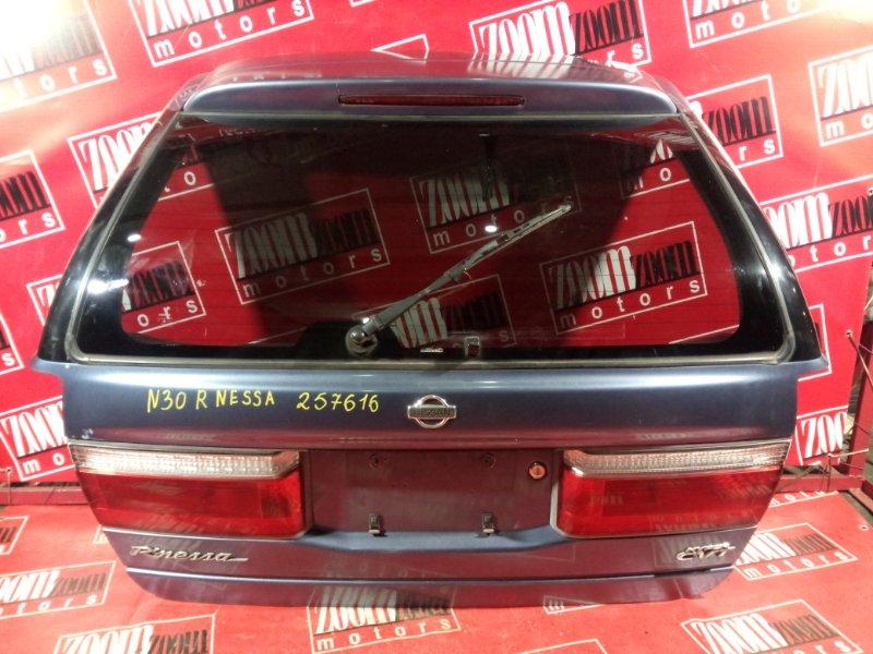Дверь задняя багажника Nissan R'nessa N30 SR20DE 1997 задняя серо-голубой