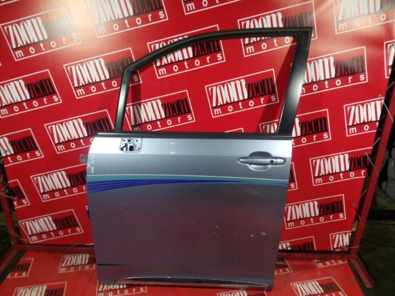 Дверь боковая Toyota Noah ZRR75W 3ZR-FAE 2007 передняя левая голубой