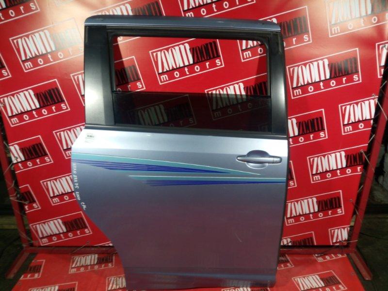 Дверь боковая Toyota Noah ZRR75W 3ZR-FAE 2007 задняя левая голубой
