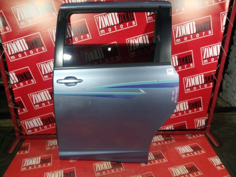 Дверь боковая Toyota Noah ZRR75W 3ZR-FAE 2007 задняя правая голубой