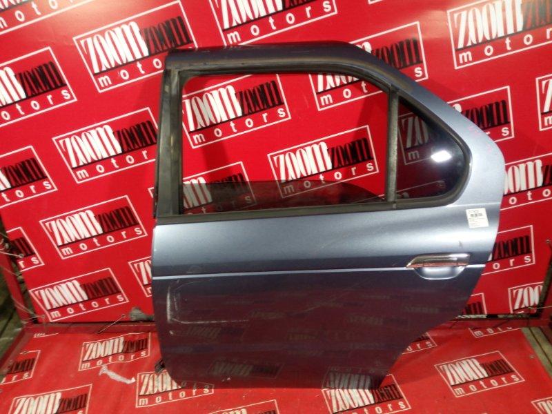 Дверь боковая Nissan R'nessa N30 SR20DE 1998 задняя левая серо-голубой