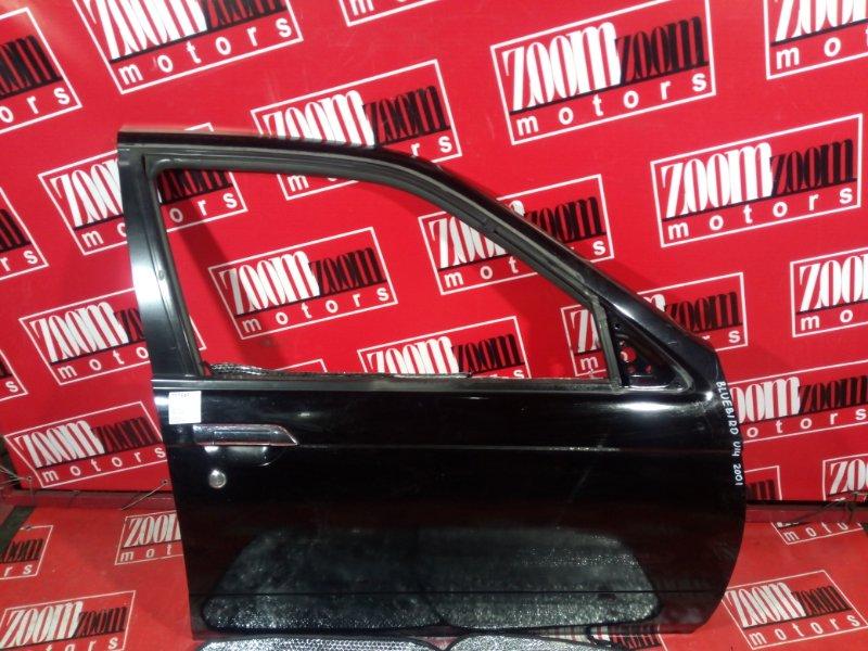 Дверь боковая Nissan Bluebird EU14 QG18DE 2000 передняя правая черный