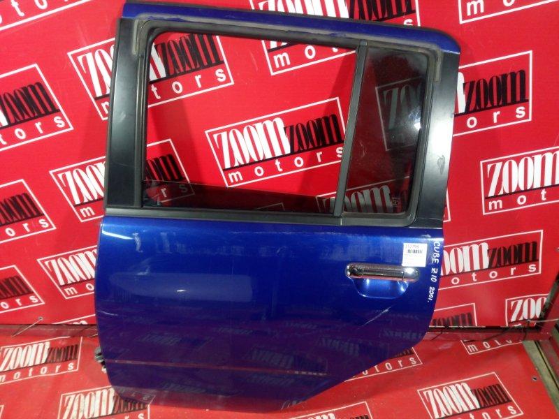 Дверь боковая Nissan Cube AZ10 CGA3DE 1998 задняя левая синий