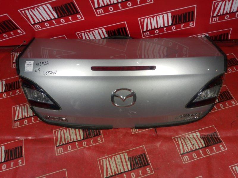 Крышка багажника Mazda Atenza GH5FP L5-VE 2008 задняя серебро