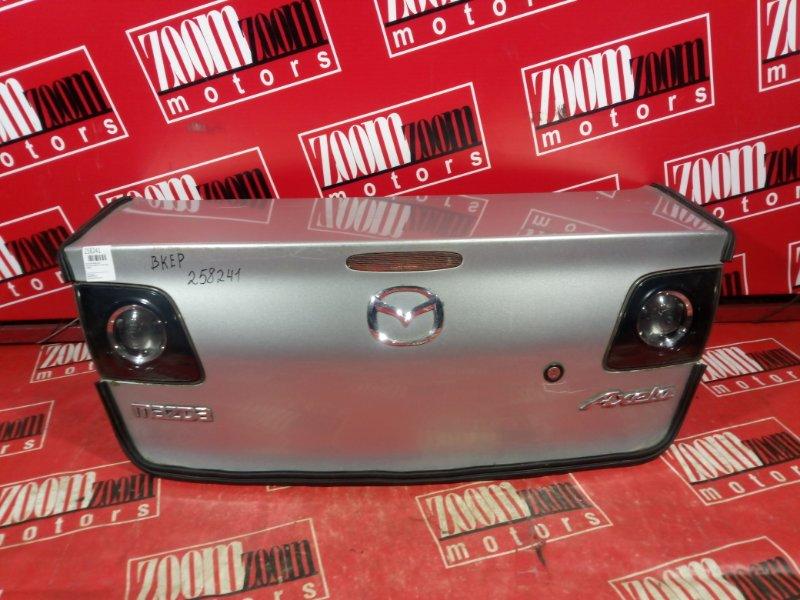 Крышка багажника Mazda Axela BKEP ZY-VE 2003 задняя серебро