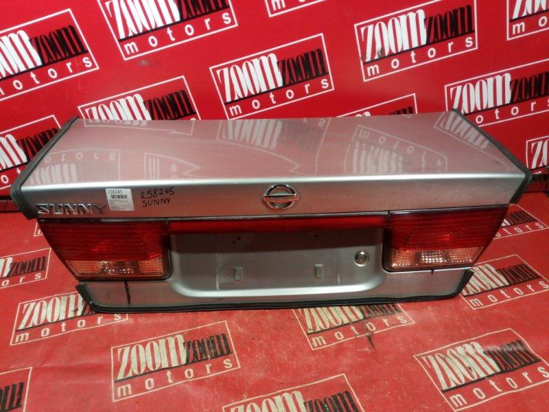 Крышка багажника Nissan Sunny FB15 QG15DE 2002 задняя серебро