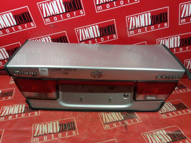 Крышка багажника Nissan Sunny FB15 QG15DE 1999 задняя серебро