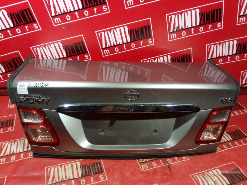 Крышка багажника Nissan Bluebird Sylphy TG10 QG18DE 2000 задняя серый
