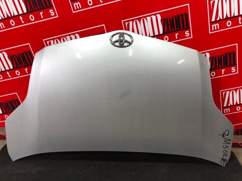 Капот Toyota Passo Sette M502E 3SZ-VE 2008 серебро