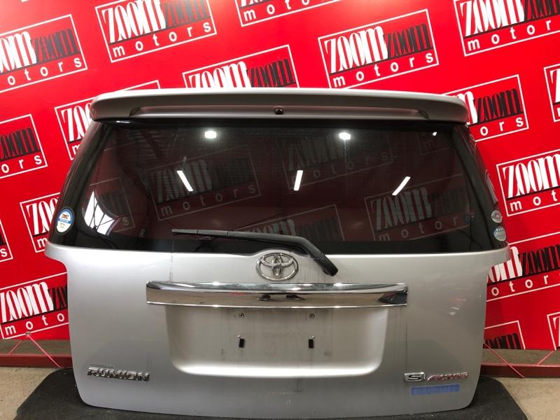 Дверь задняя багажника Toyota Corolla Rumion ZRE152N 2ZR-FE 2007 задняя серебро