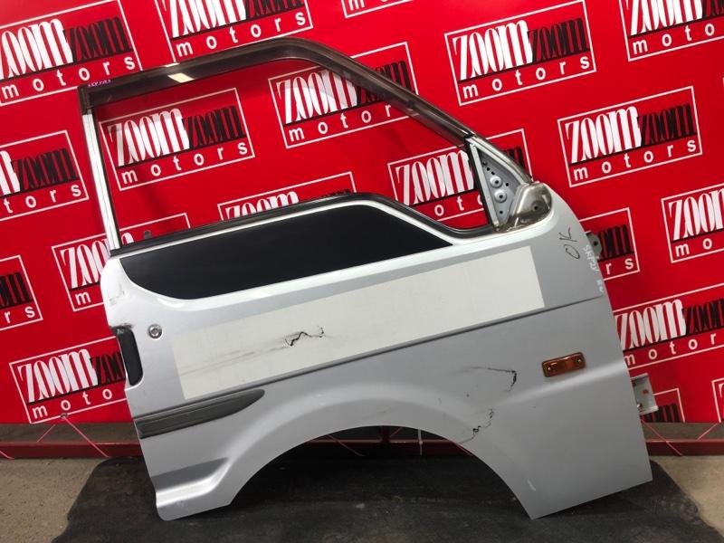 Дверь боковая Mazda Bongo SKP2V L8 2010 передняя правая серебро