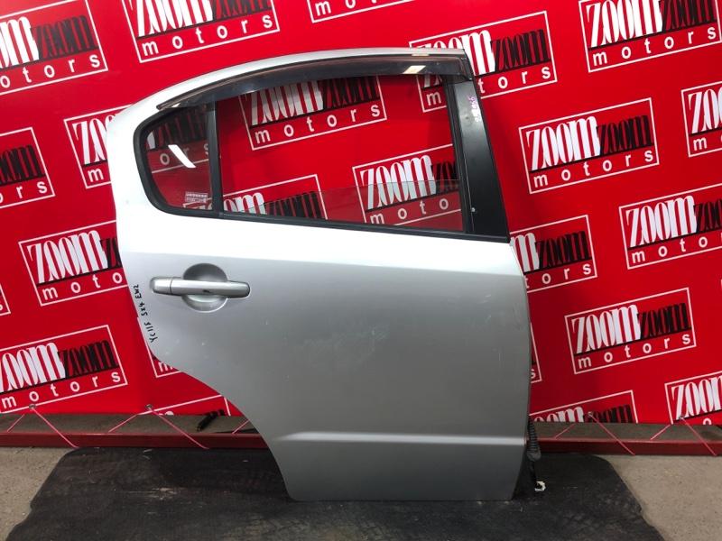 Дверь боковая Suzuki Sx4 YC11S M15A 2007 задняя правая серебро