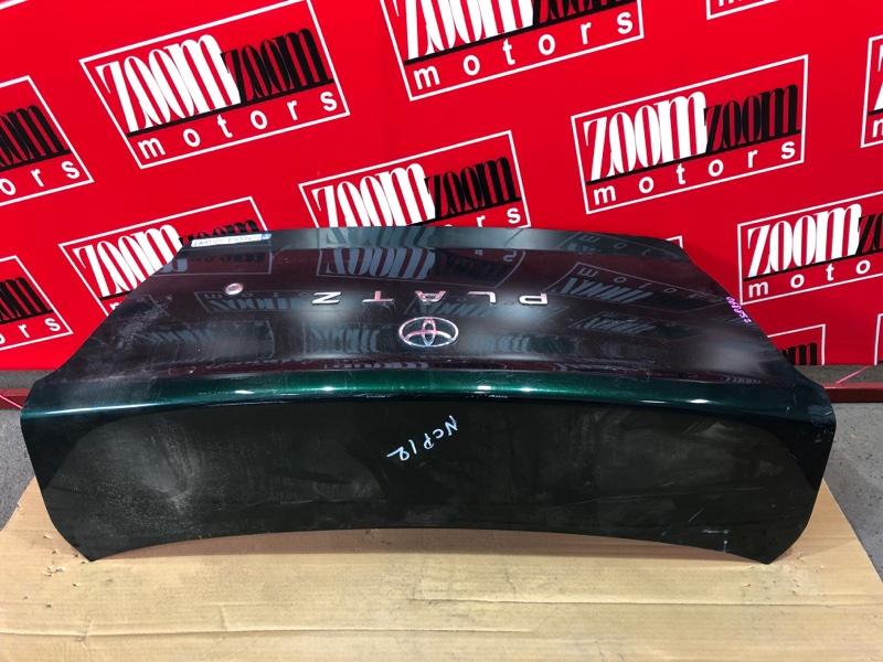 Крышка багажника Toyota Platz NCP12 1NZ-FE 1999 зеленый