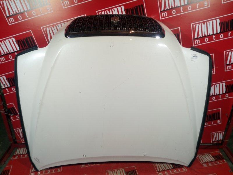 Капот Toyota Crown Majesta JZS177 2JZ-FSE 1999 передний белый перламутр