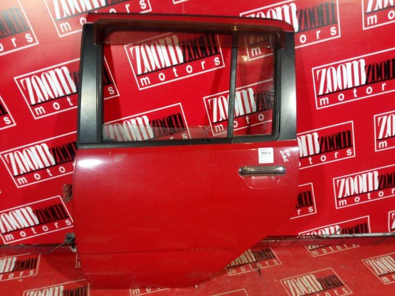 Дверь боковая Nissan Cube AZ10 CGA3DE 1998 задняя левая красный