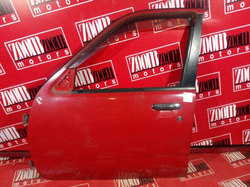 Дверь боковая Nissan Cube AZ10 CGA3DE 1998 передняя левая красный