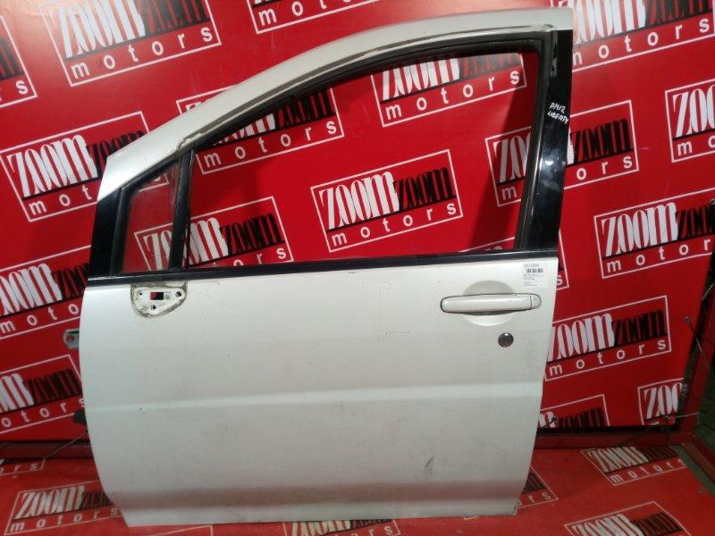 Дверь боковая Nissan Liberty PM12 QR20DE 1998 передняя левая белый перламутр