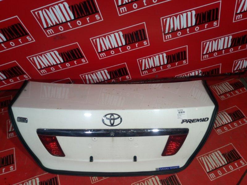 Крышка багажника Toyota Premio NZT240 1NZ-FE 2001 задняя белый перламутр
